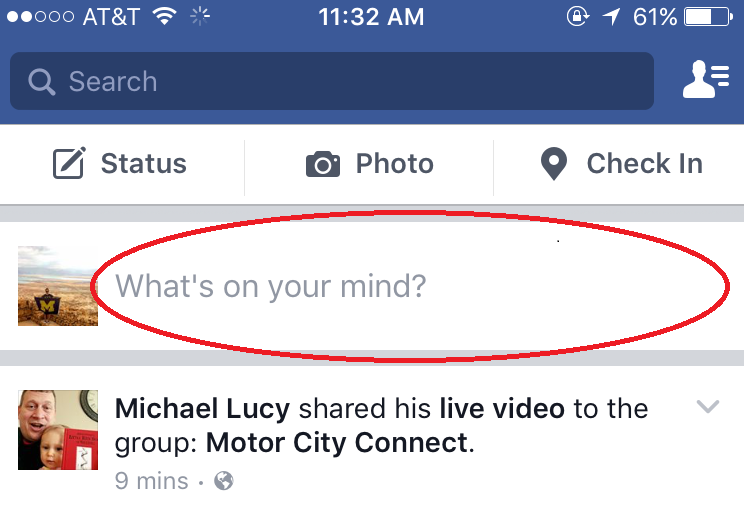 Detroit Facebook Live Video Company- News Feed, Step #2