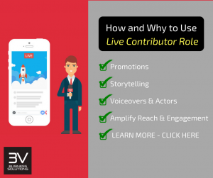 What kind of content should Facebook Live Contributors Produce?