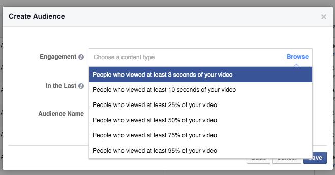 Video View Custom Audiences