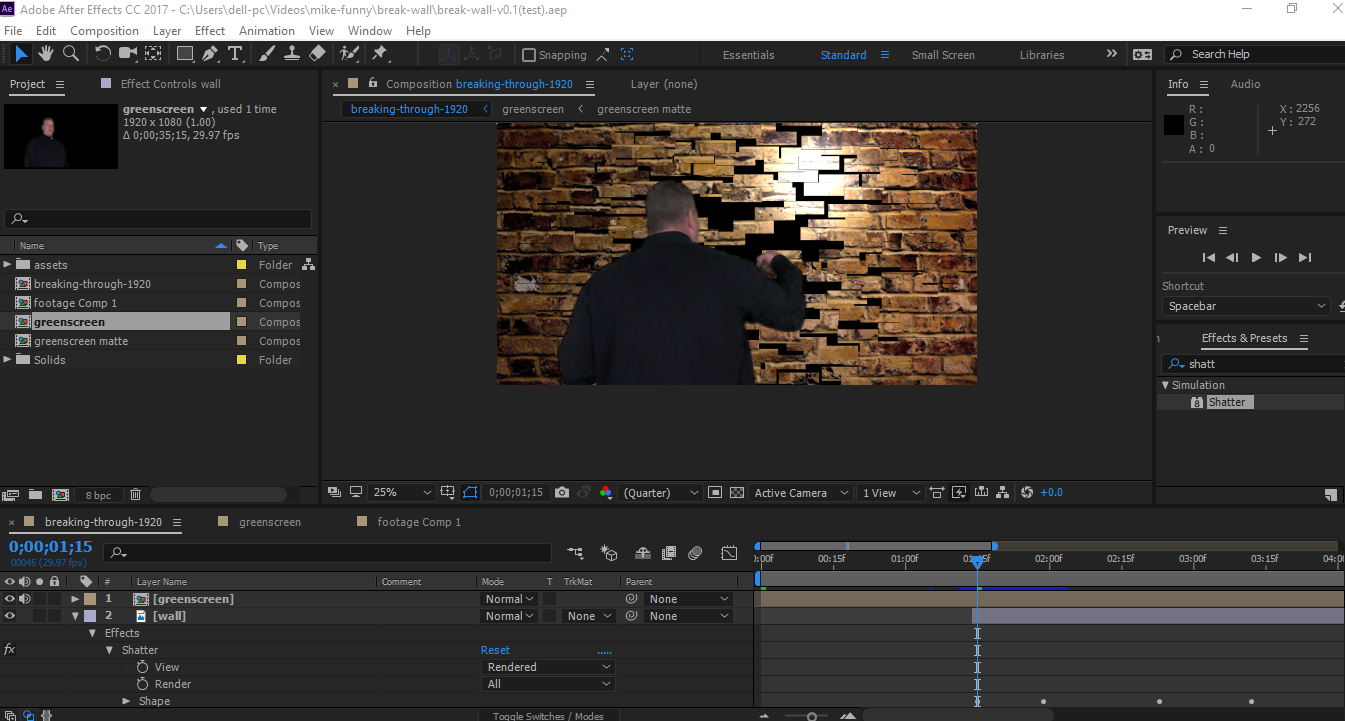 After Effects Greenscreen and Chroma Key Footage Editing