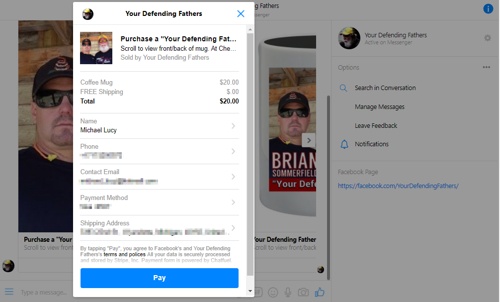 Chatfuel chatbot ecommerce example