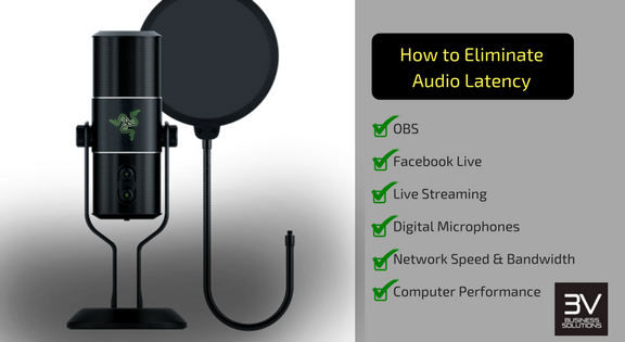 How to remove audio latency and lag in OBS from Facebook Live Stream