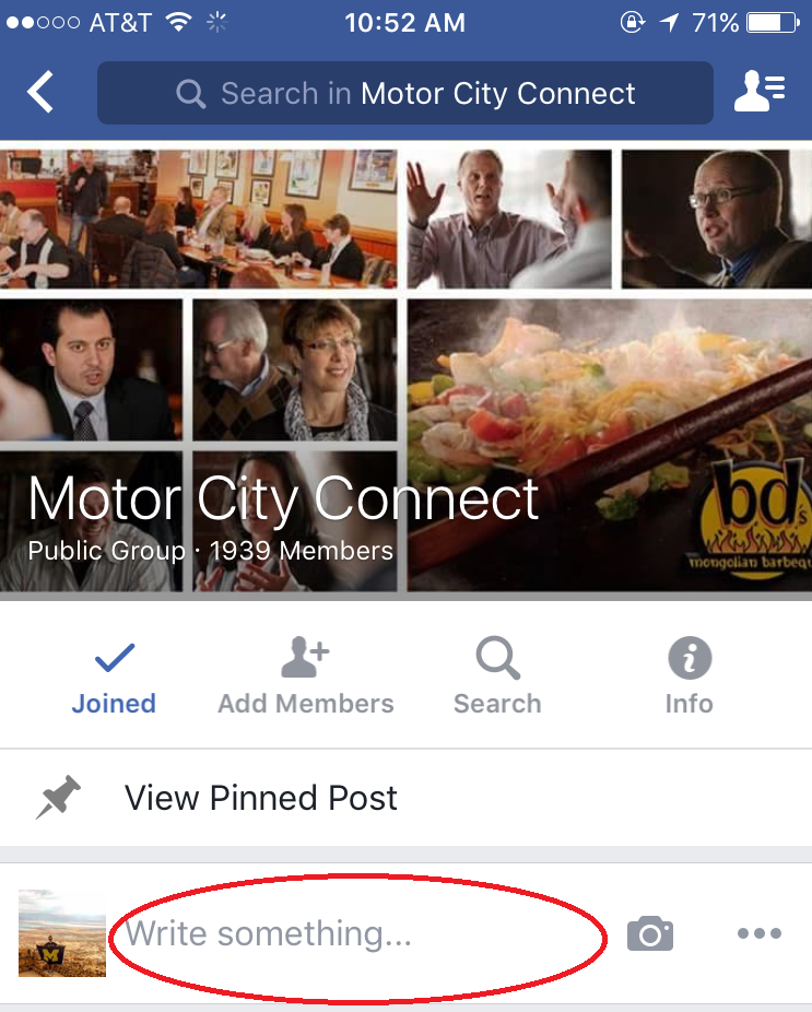 Detroit Live Video Company- Facebook Group Posting, Motor City Connect