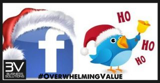 Christmas Facebook and Twitter marketing