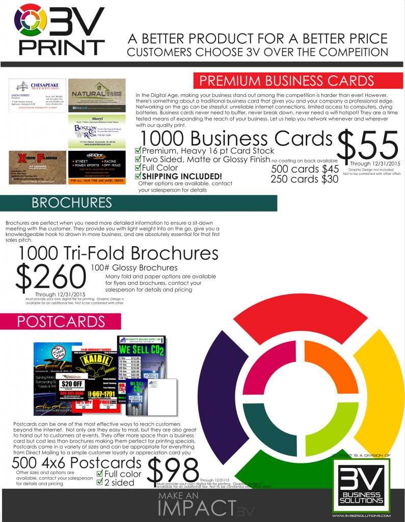 3V Print, metro Detroit and Michigan print marketing specials