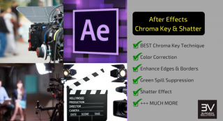 After Effects, Greenscreen, Chroma Key & Shatter Effect